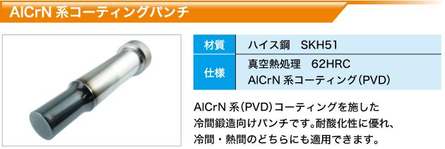 AlCrN系コーティングパンチ